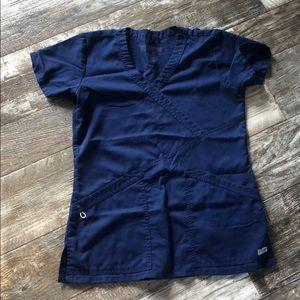 Grey's anatomy navy blue scrub top